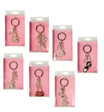 KEY RING BAG CHARM DIAMANTE 16 DESIGNS CHRISTMAS STOCKING FILLER BIRTHDAY GIFT