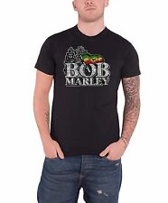 Bob Marley Distressed Logo Official Mens New Black T Shirt All Sizes