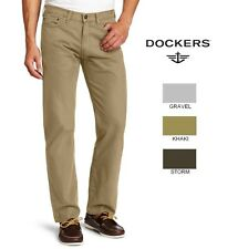 New DOCKERS men's 5 pocket straight fit flat front twill pant 34 36 38 40 42