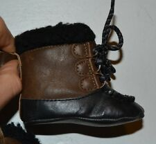 Faux Leather Boots with Faux Shearling Trim  Spencer's Baby Winter Boots Booties