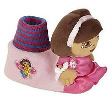 Girls toddler DORA the EXPLORER Plush Slippers Size 7/8 9/10 11/12 pink NWT