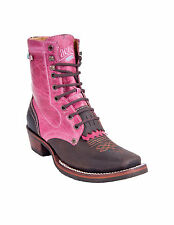 Tombstone Pink Women's Square Toe Lace Up Cowgirl Boot