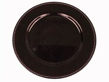 """96 pcs x 13"""" BEADED ACRYLIC CHARGER PLATES Wedding Party Dinner Supplies"""