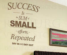 Success is the Sum of Small Efforts Office Motivational Wall Decal Vinyl Art A57