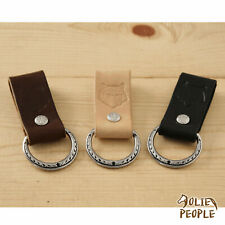 Leather Key Fob Belt Loop Key Holder SS Floral Dee - Handmade in USA