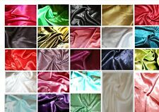 Silky Satin back crepe polyester dress fabric: 21 colours @ £2.95 per metre