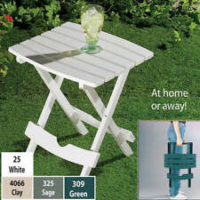 plastic small side folding quick fold end Table outdoor Yard Travel compact Lawn