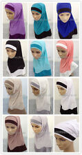 New Mix Colors 2 Piece Amira Hijab Muslim Hijab Islamic Scarf Wholesale Retail