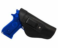 New Barsony Black Leather IWB Gun Holster for Smith & Wesson Full Size 9mm 40 45