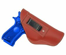 New Barsony Burgundy Leather IWB Gun Holster Smith & Wesson Full Size 9mm 40 45