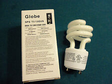 Globe GU24 Bulb 13w=60w, 10,000 hrs.=9yrs. life, Discounts For Qtys. of 6 and 12