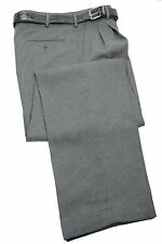 Mens Trousers Heather Gray Dress Pants Pleated Slacks W/ Belt New Sizes 30 to 42