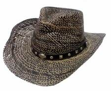 Harley-Davidson Men's Bar & Shield Studded Patterned Toyo Straw Hat Black HD-750