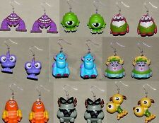 Monsters Inc. University Charm Earrings Sulley Mike Art Squishy Terry Jewelry