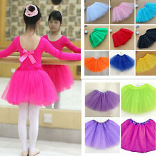 Kids Girls Ballet Tutu Princess Dress Dance Wear Skirt Mini Pettiskirt Costume