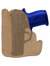 New Barsony Tan Leather Gun Pocket Holster Ruger Kel-Tec Kahr Mini 22 25 380