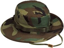Woodland Camouflage  Military Tactical Wide Brim Bucket Hunting Boonie Hat 5800