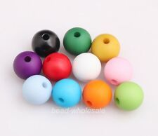 25pcs Assorted Color Acrylic Round Loose Spacer Beads Charm Finding DIA.10mm