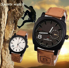Leather Strap Fashion Style Quartz Military Luminous Waterproof watch for Men