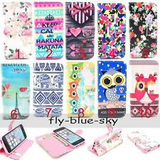 Vintage OWL Elephant Flip PU Leather Stand Wallet Cover Case For Smart Phone