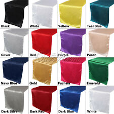 "1pc Satin Table Runner 12""x108"" Wedding Party Decor Banquet Hotel Home Supply"