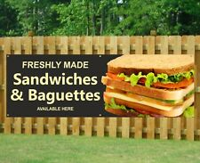 SANDWICH BAGUETTES PVC Printed Banner Outdoor/Indoor Catering Sign Restaurant