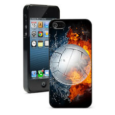For Apple iPhone 4 4S 5 5S 5c Hard Case Cover 1216 Fire Volleyball