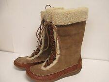 Hush Puppies Hushed Fleece Lined Boot 6.5 M Taupe Suede New With Box