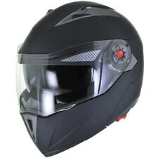 NEW Flat/Matte Black Modular Flip Up Dual Visor DOT Motorcycle Helmet - S/M/L/XL
