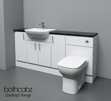 WHITE BATHROOM FITTED FURNITURE 1700MM