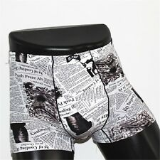 Fashion Newspapers Cold fibers super-stretch breathable comfortable underwear L