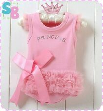 NEW COTTON BABY TODDLER GIRLS PINK PRINCESS PARTY OUTFITS SETS TUTU DRESS UP 1-2