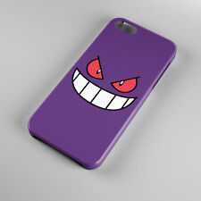 New Pokemon Gengar Sinister Grin Face For iPhone 5s 5 4S 4 Hard Case Cover