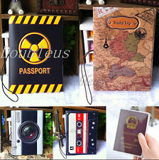 Travel Passport Holder Ticket Protector Cover Case Leather Bag Organizer Folder