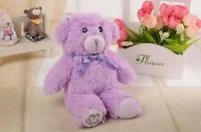 3D Purple Bear Plush Doll Toy Series Case Cover For Samsung Galaxy Mobile Phones