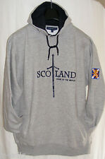Scotland Home of the Brave Hooded Top - Navy or Grey - Sizes S-XL BNWT
