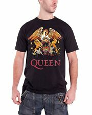 Queen Classic Crest Official Mens New Black T Shirt