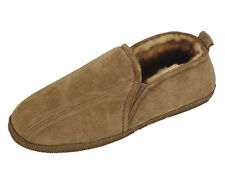 Old Friend Mens Genuine Sheepskin Romeo Moccasin Slipper in EXTRA WIDE 5E