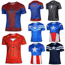Marvel Superhero Casual Fancy T-Shirt Costume Cycling Bike Tee Shirt Tops Jersey