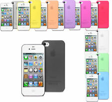 Transparent Ultra Thin Matte Gel Case Cover For iPhone 4 4S + Screen Protector