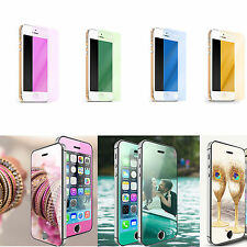 Mirror Effect 9H Color tempered glass screen protector for iPhone 5//6/6S/6 Plus