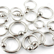 BALL CLOSURE Captive Ring BCR Surgical Steel  Lip Nose Ear Tragus  LOTS OF SIZES