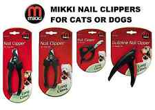 MIKKI NAIL CLIPPERS FOR DOGS OR CATS - GUILLOTINE, SCISSOR, DELUXE SMALL + LARGE