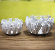 Candle Holders Concrete 'Leaf' Home Decor BRAND NEW Two Sizes Available