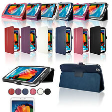 """Leather Case Cover Stand For Samsung Galaxy Tab 3 8"""" 8.0 Inch Tablet Wake/Sleep"""
