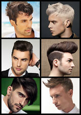 Mens Hair Collage, Hairdresser, Barber, Hair Salon Large Poster, Various sizes