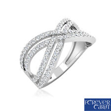 0.57 Ct Certified Natural White Diamond Ring 925 Sterling Silver Ring Jewellery