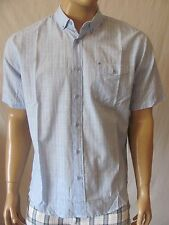 New BILLABONG Mens Blue Casual Striped Button Down Stringent S/S Woven Shirt $49