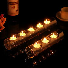 clear glass tube tealight holder candle holder dinner wedding centerpieces