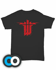 WOLFENSTEIN - New Order PS4 Xbox One Game Black 100% Cotton Cool T Shirts